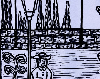 Capula--Original Linocut