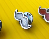 Sale 25% off Antiqued Silver Mustache Pin - Donation to Prostate Cancer Research