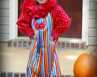 Clown suit Jumpsuit, collar, hat