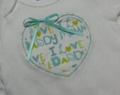 Baby Onesie With Reverse Applique Heart
