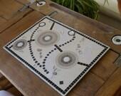 Zen Mosaic - white, beige, black