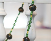 Green Beaded Necklace Made in Haiti // All proceeds go to Haiti