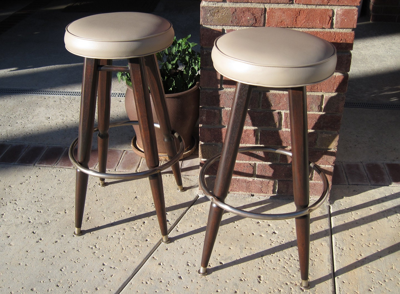 Mid century modern bar stools by woodwavesinc on etsy