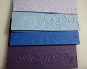 4 Embossed blank card stock
