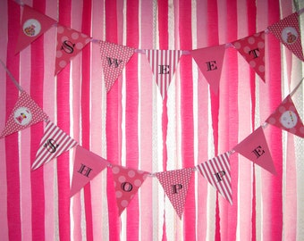 INSTANT DOWNLOAD - Bright Pink Sweet Shoppe Party - Sweet Shoppe Banner