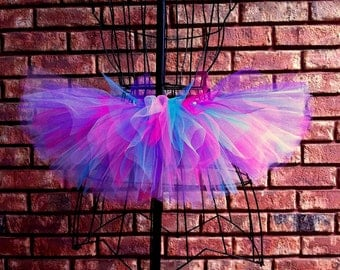 London Tutu - Blue, Pink and Purple Tutu - Available in Infant, Toddlers, Girls, Teenager, Adult and Plus Sizes