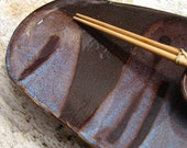 Sushi Plate With Soy Dish and Bamboo Chopstick