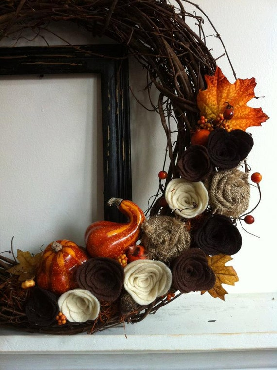 Fall Grapevine Harvest Wreath
