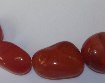 Carnelian Nugget Beads