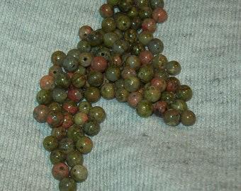 Unakite Beads 4mm