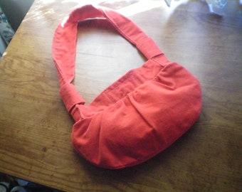 Red Corduroy Hobo Bag