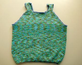 Hand Knit Pullover Vest 4 - 5 years