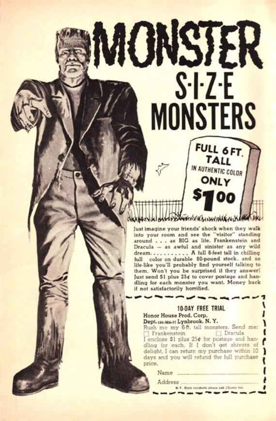 "Halloween Decoration..Monster size 6 feet tall ""MONSTER""  Glow in the dark eye."