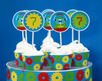 ROBOT Birthday PRINTABLE PARTY Collection from The Celebration Shoppe