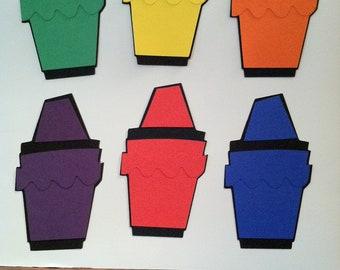 Crayon Die Cuts - Set of 6