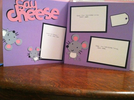 Girly Say Cheese Pre Made 12 x 12 Double Page Layout