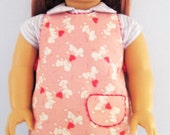 American Girl Apron, Valentine Hearts and Mice