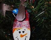 Best Selling Snowman Vintage Silver Plate Spoon Ornament