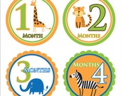 Safari Theme Onesie Stickers, For Baby Girls and Boys 1-12 months, Perfect Baby Shower Gift, Great for New Moms