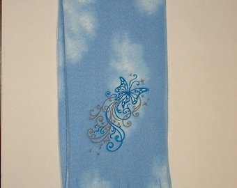 SALE Embroidered Butterfly Scarf