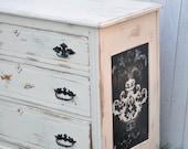 Vintage Antique Cottage Chic Style Refinished Dresser