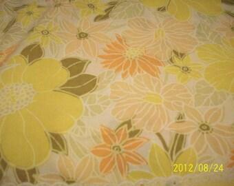 Vintage Floral Full  Flat Sheet