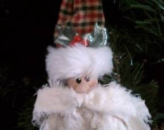 "Santa ""Rag"" Face Ornament"