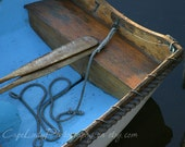 Boat, photo, Dory, Oars, Rowboat, Nautical, Home Decor,  Print, Rope