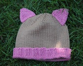 Kitty Cat Hat: Size 2T-4T
