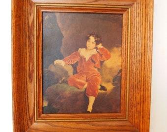 Red Boy Framed Print