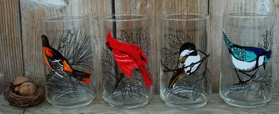 Vintage Bird Glass Set