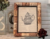 RESERVED for Lisa  - 8x10 recycled wine cork frame