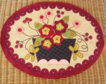 Handmade Wool Felt Table topper - Wall hanging