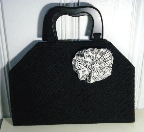 Black Purse, Placemat Purse, Medium Size Purse, Evening Bag ...