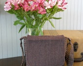 MINI MESSENGER BAG from upcycled wool - Dusty Purple - Color Block