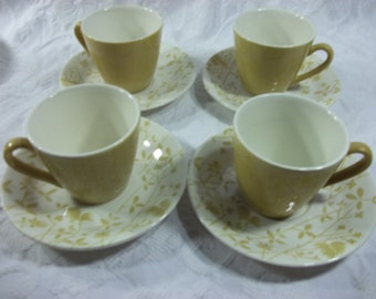 Vintage Golden Meadow Cup and Saucer Set by Sheffield