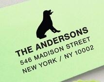 CUSTOM pre inked address STAMP from USA, custom address stamp, pre inked custom address stamp, address stamp with proof - dog lover c6-4 Dog