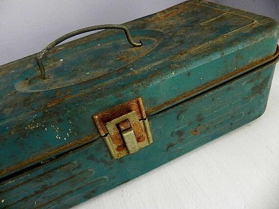 Vintage Metal Tackle Box Full of Goodies