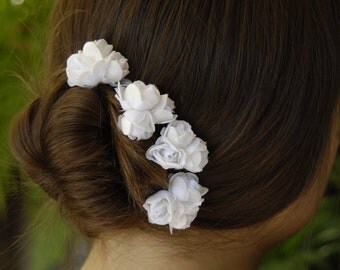 Set of 3 Bridal Flower Hair Pins  Wedding Hair Pins  Wedding Accessory Bridal Hair Pins