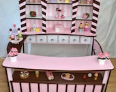 """100% Handmade - shop """"Small pastry shop"""" shop for children made of solid beech chocolate pink Brown"""