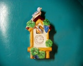 cute vintage small cuckoo clock wall pocket Made in Japan