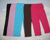 Plain Leggings 100% Cotton, Fuchsia, Turquoise, Pink, Black and Brown