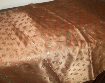 CLEARANCE SALE - 1950s brown silk scarf by Vera