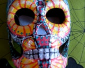 Hand Painted Paper Mache Day of Dead Mask