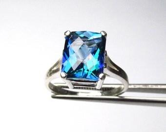 Impressive Neptune Garden Topaz in Sterling Silver Ring