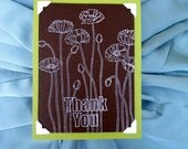 Poppies Thank You Card in Lucky Limeade Chocolate Chip and Lucky Limeade