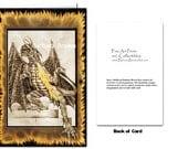 Dragon Steps Greeting Card 5.5 X 7.5 inch by Barbara Brown Dragons Fire