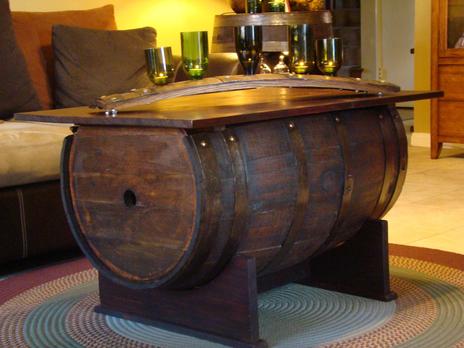Barrel Coffee Table Amp Storage Trunk Made From 3 4 By