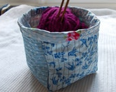 Patchwork Quilted Storage Box/Bag