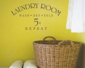 Laundry Room Wall Decal - Vinyl Lettering -  Home Decor - Laundry Room Vinyl Wall Decal